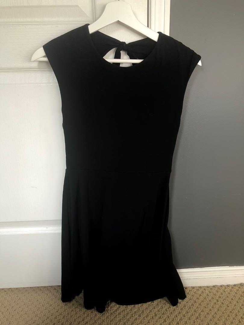 TALULA black open back dress
