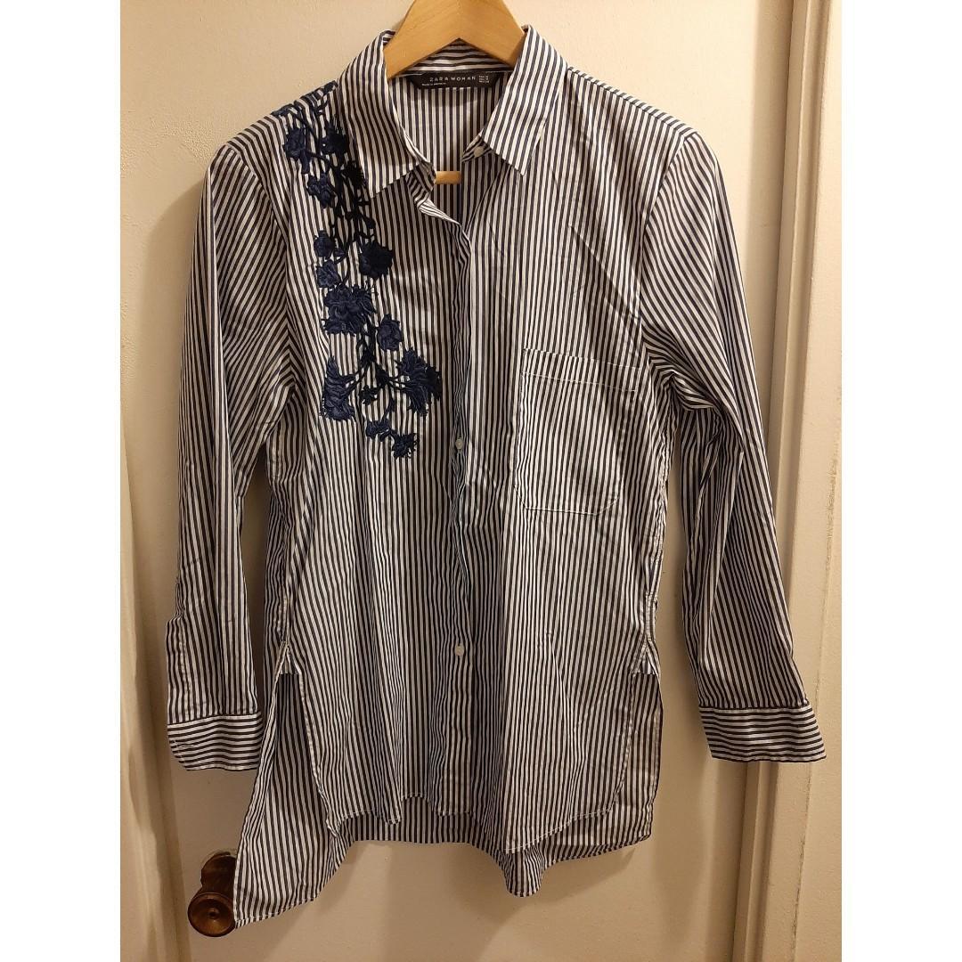 [Zara]Strip Shirt