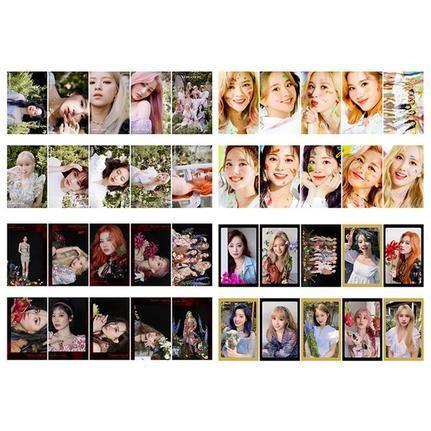 10PCS/set KPOP TWICE MORE & MORE 9th Mini New Album Photo Card PVC Cards Self Made LOMO Card Photocards