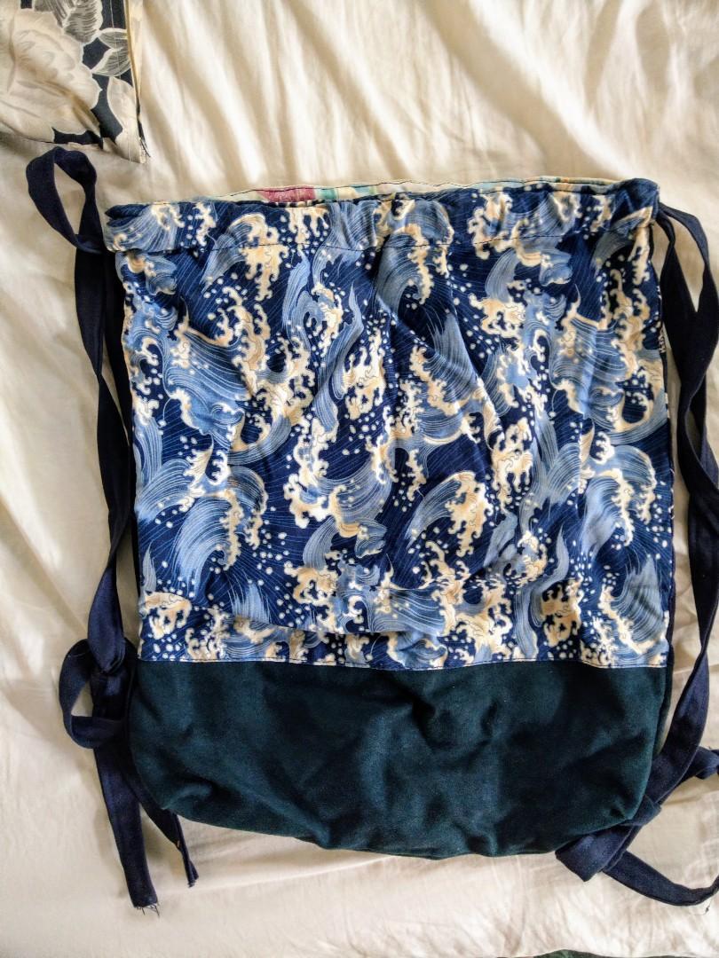 日系雙面浮世繪風格帆布包