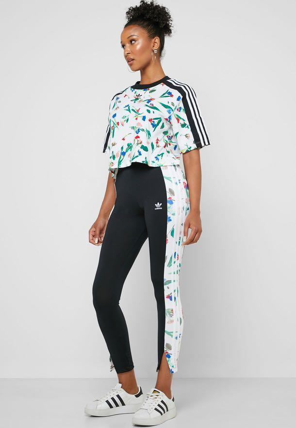 Adidas floral legging size small