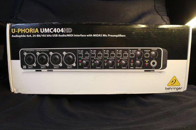 Audio Interface merk Behringer U-Phoria UMC404HD