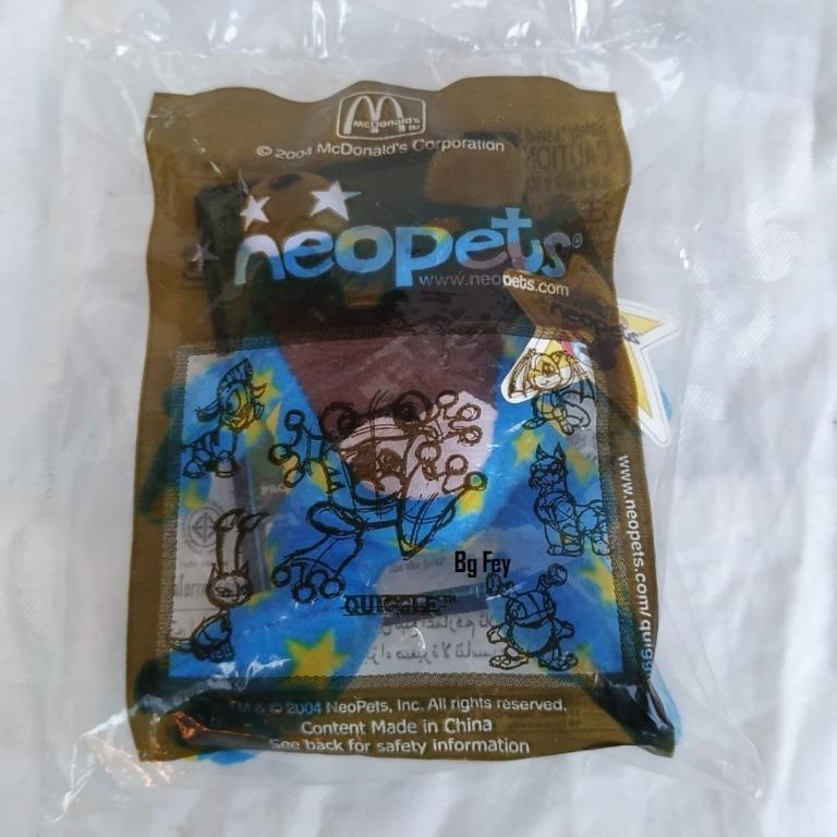Boneka Neopets Quiggle blue yellow stars Mc Donald 2004 - Segel