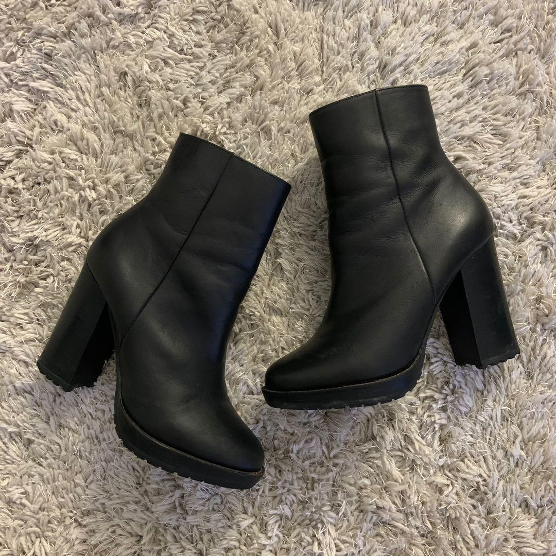 Design Lab Chunky Heel Ankle Boots