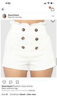 Fashion Nova shorts small