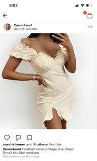Fashion Nova vintage dress medium
