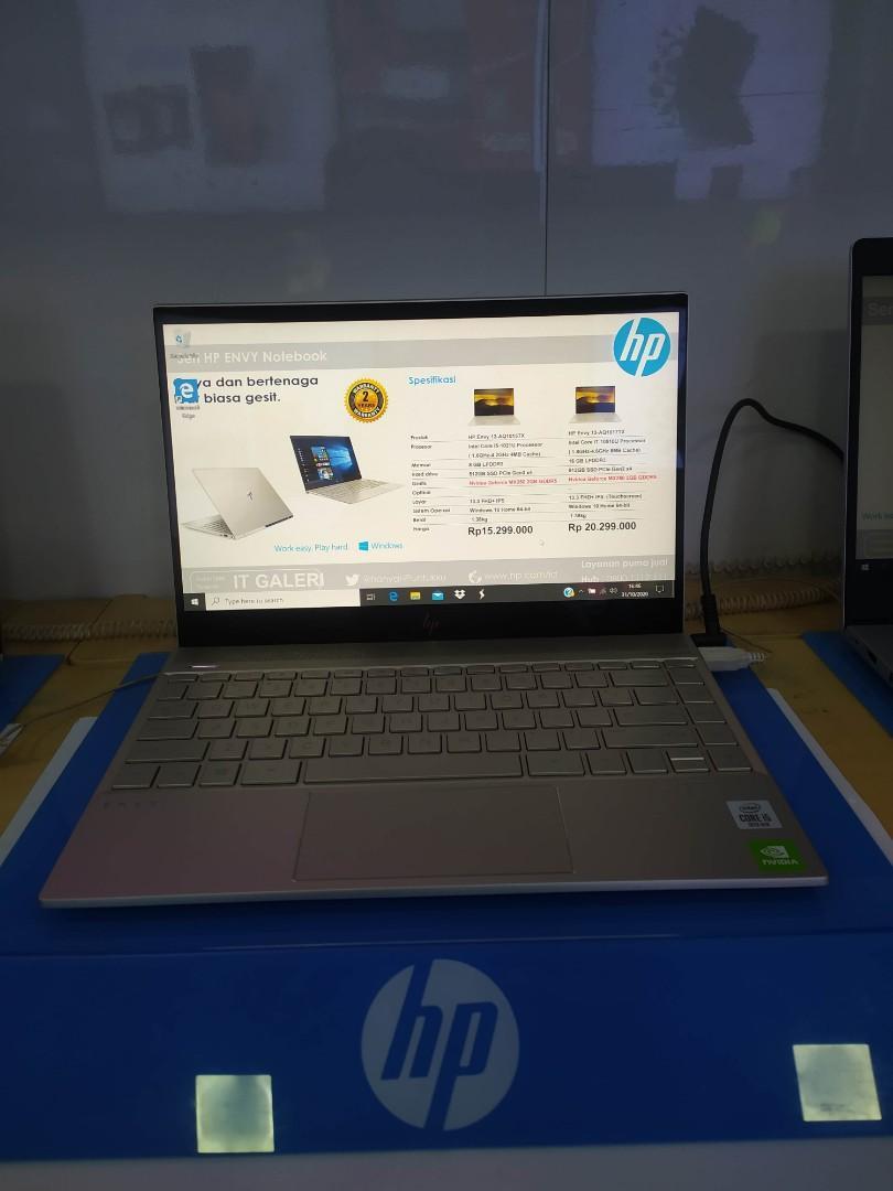 HP Envy 13 Series Cicilan Tanpa Kartu Kredit DP mulai 10%