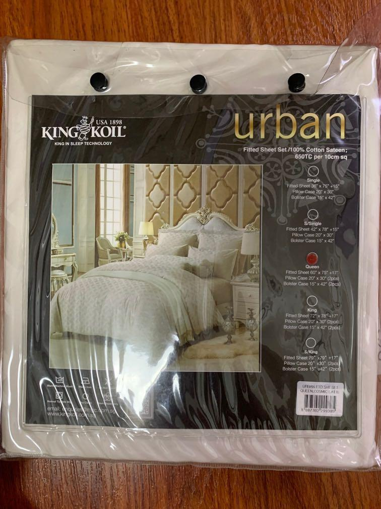 King Koil Queen Fitted Sheet Set, King Fitted Sheet On Queen Bed