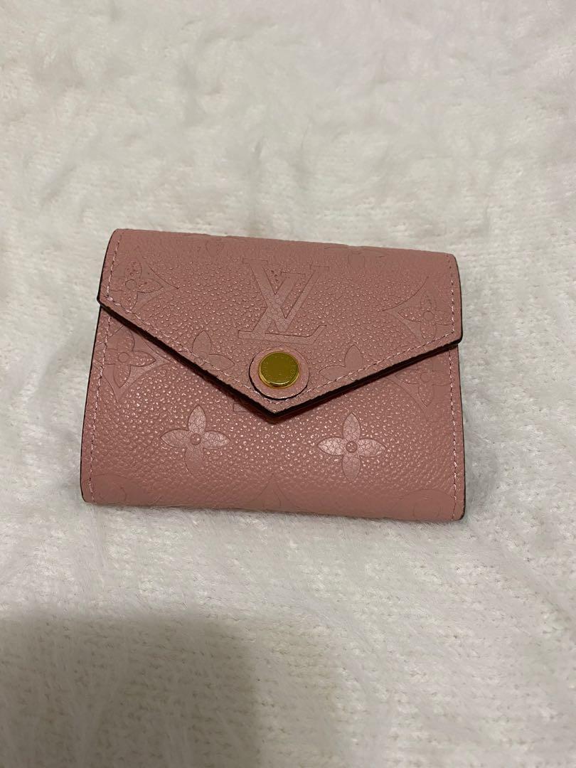 Louis Vuitton LV pink empreinte wallet