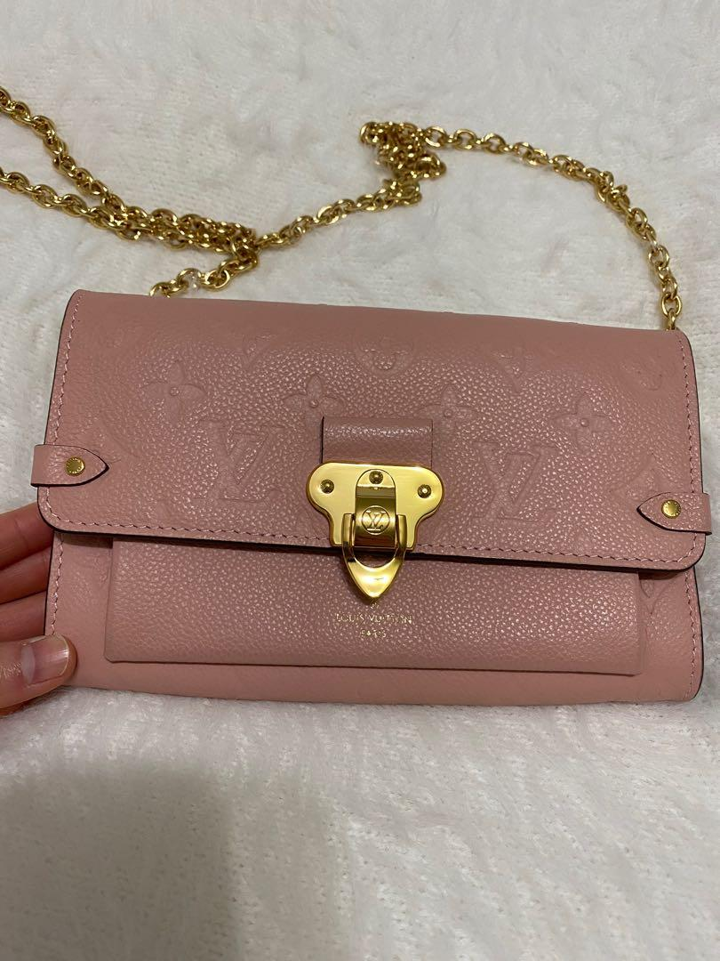 Louis Vuitton bag LV Vavin wallet on chain woc pink empreinte