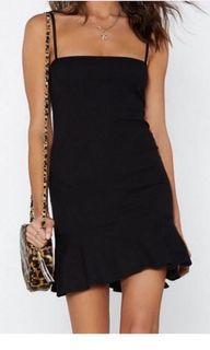Nastygal mini black dress