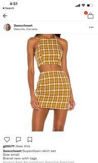 Superdown skirt set