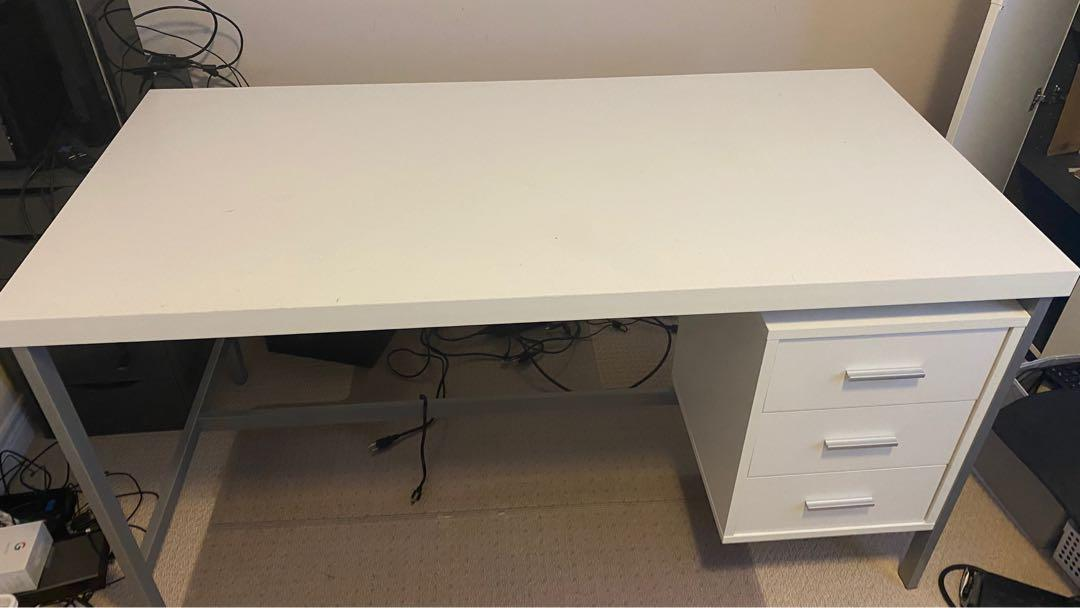 White Desk in good condition with free chair