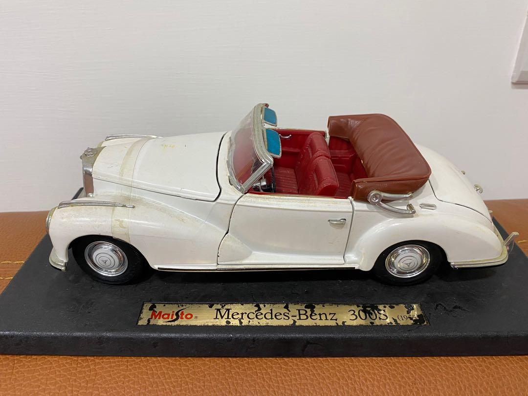 1955 Maisto Mercedes Bens 300s 米白 賓士 敞篷跑車 1:18 跑車/古董模型車