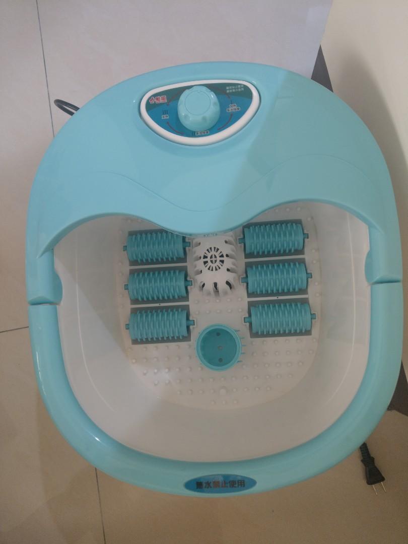 【勳風】加熱式六滾輪氣泡按摩足浴機