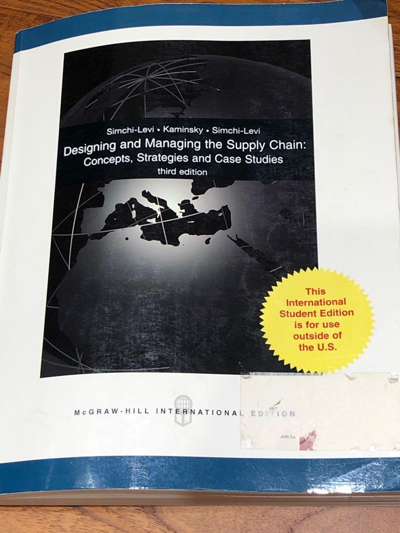 二手 designing and managing the supply chain,  3 edition