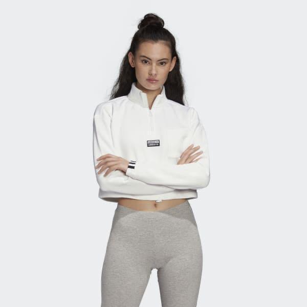 Adidas crop sweater - size M