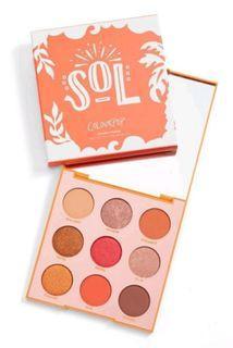 ColourPop 真品 SOL 9色眼影盤 類似Yes please,美國代購入手價為500、(不議價)