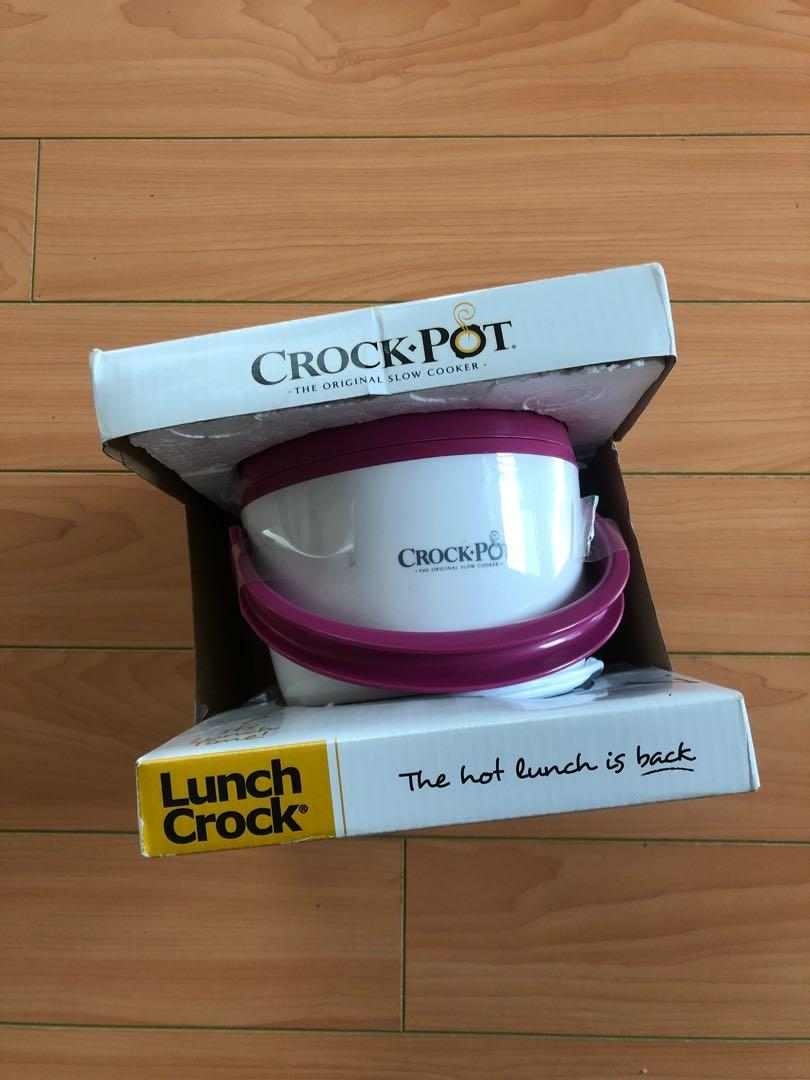 Crock Pot Mini Crock Portable Lunch Carrier, purple