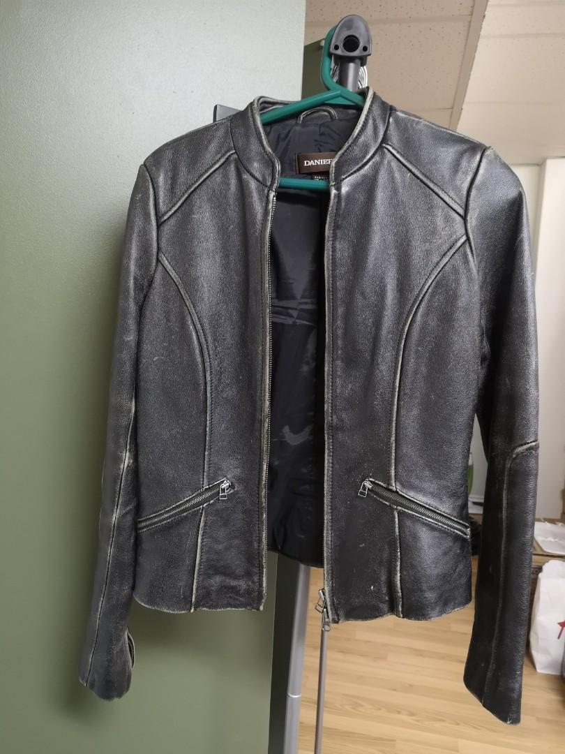 Danier distressed leather jacket