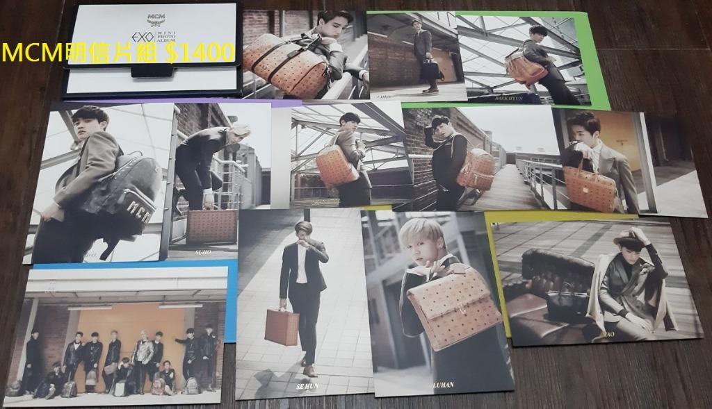 EXO 官方 周邊 MCM 明信片 照片 寫真 珉錫 俊勉 藝興 伯賢 鍾大 燦烈 敬秀 鍾仁 世勳 鹿晗 子韜