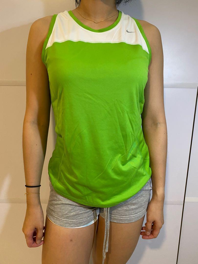 Green Nike Tank Top