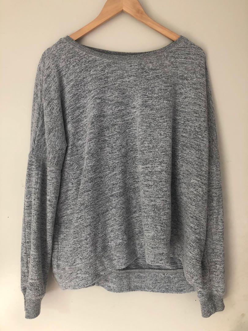 Grey soft pullover