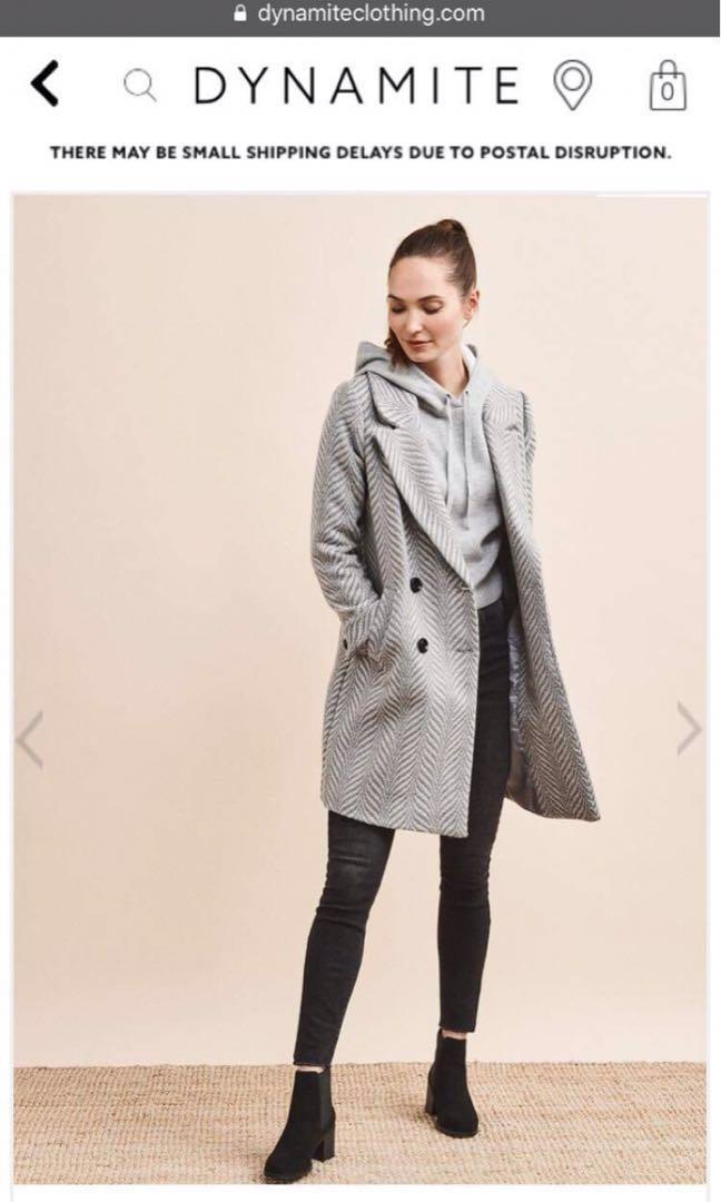 Grey/cream dynamite coat