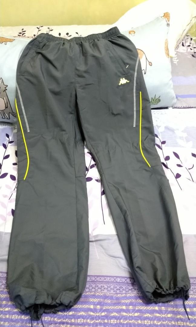【KAPPA】 義大利女款 吸濕排汗竹碳風褲 (灰色XL號)