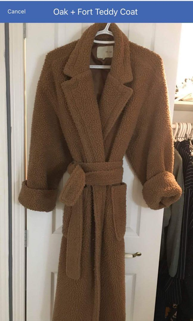 Oak + Fort Teddy Coat