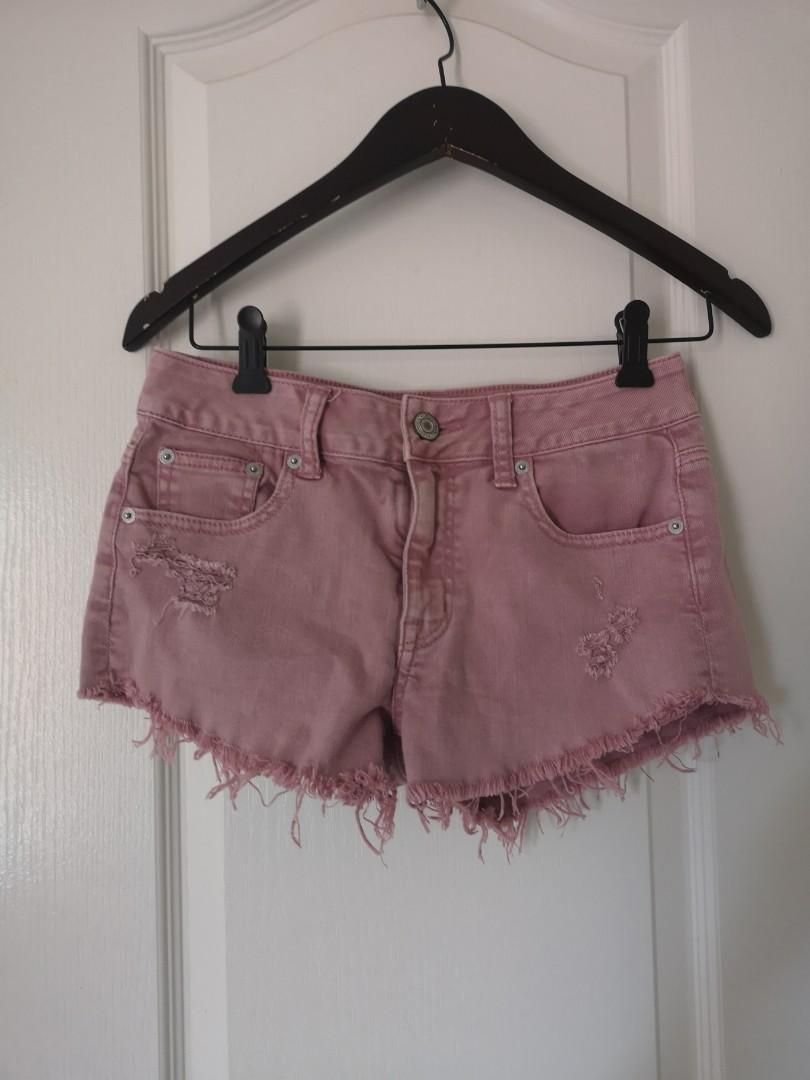 pink shorts size 0