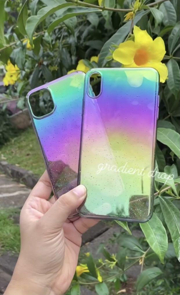 Gradient drop Rainbow rain iphone xs max case