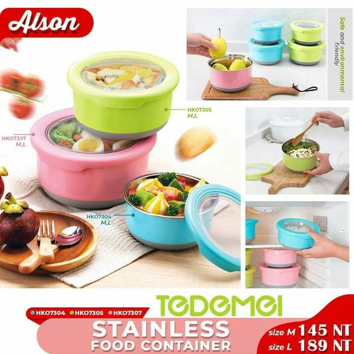 Stainless food container size M-$149NT L-$189 NT