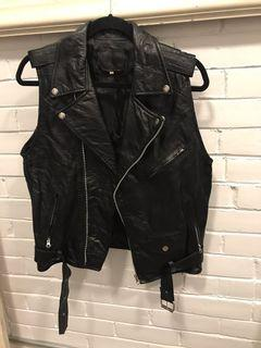 Vintage vegan leather vest