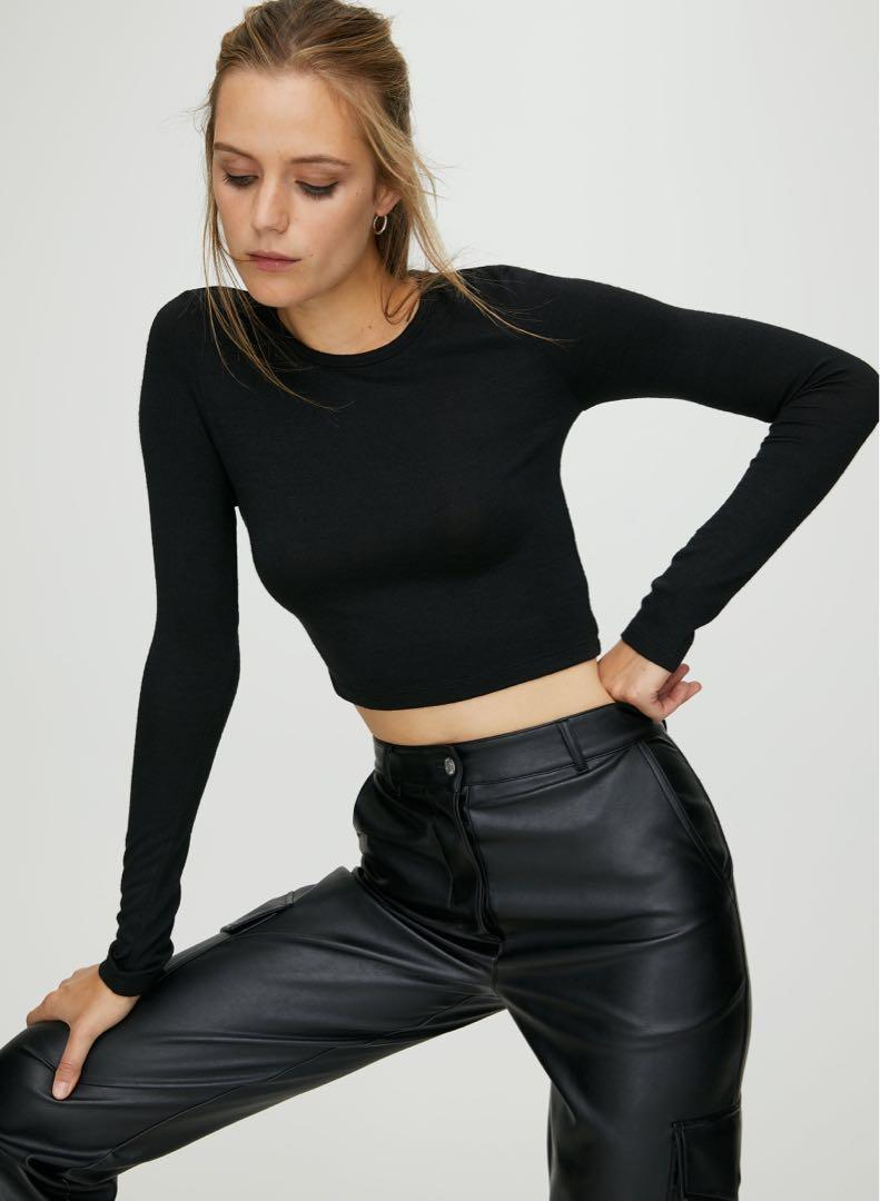 Wilfred XXS Cropped Black Long Sleeve