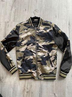 ZARA men's bomber style jacket with back detail - size S