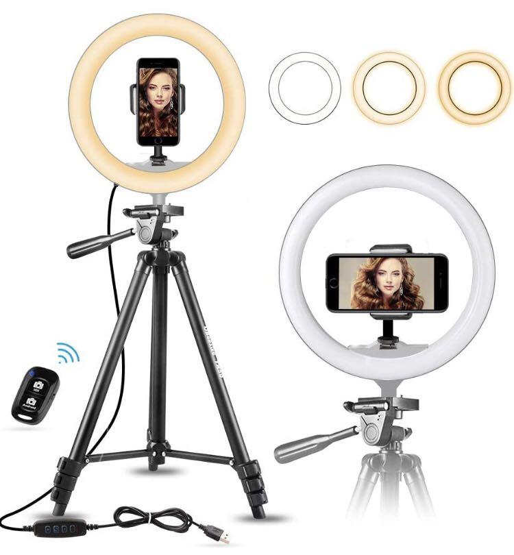 """10"""" Selfie Ring Light with 50"""" Extendable Tripod Stand"""