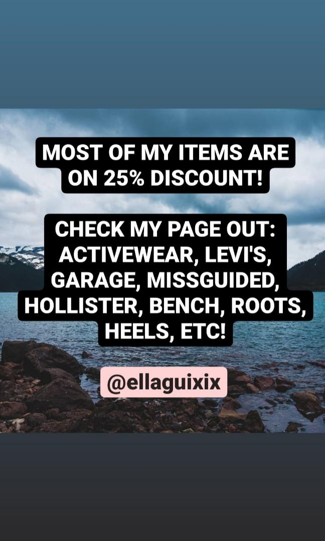 25% DISCOUNT ON MOST OF MY ITEMS