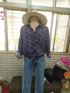 古著花紋襯衫