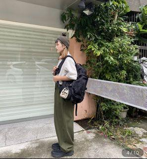 /全新/ PAL-寬版打折褲(綠)