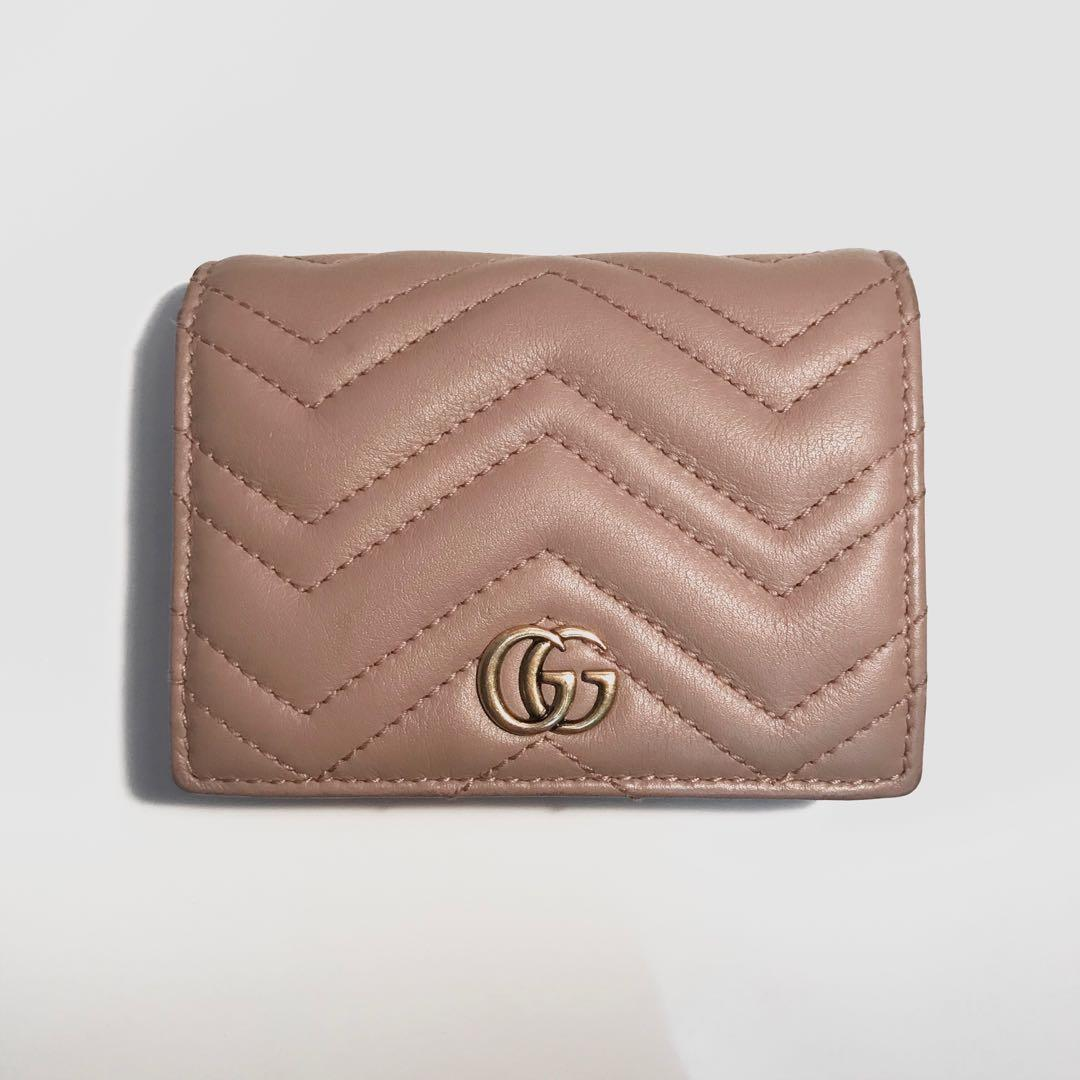 🌸 Authentic Gucci Card Case Wallet in Dusty Pink 🌸