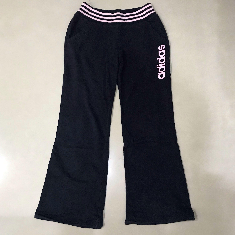 Adidas純棉深藍色運動長褲