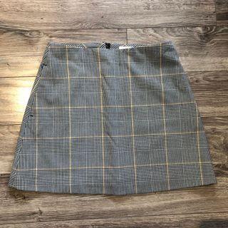 Aritzia Wilfred Classic check mini skirt