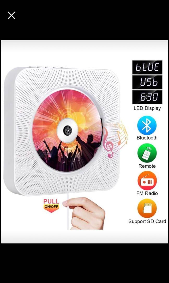 Brand new Portable CD Player with Bluetooth
