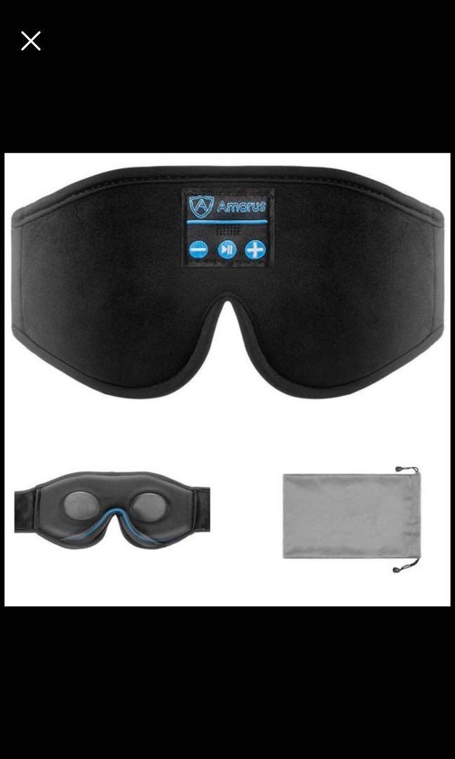 Brand new Sleep Mask Headphone for Men Women, Contoured 3D Eye Mask Wireless Headband Bluetooth 5.0