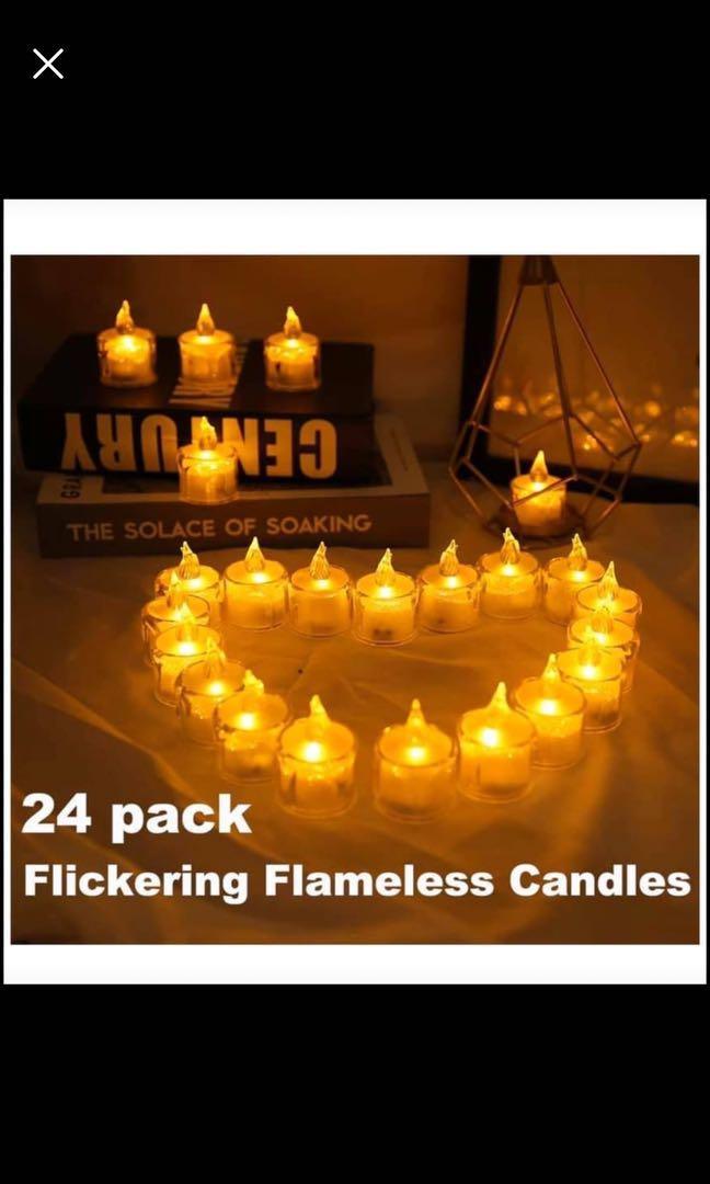 Brand new Tea Lights, 24 Pack Flameless Candles Flickering Warm Yellow 100+ Hours Battery-Powered