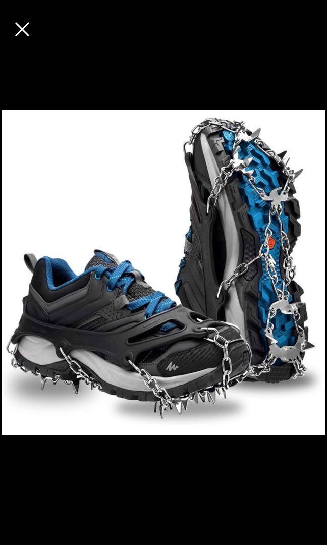 Brand new Traction Ice Snow Cleats Crampon Stainless Steel 18 Teeth Anti-Slip Spikes Grip (L)