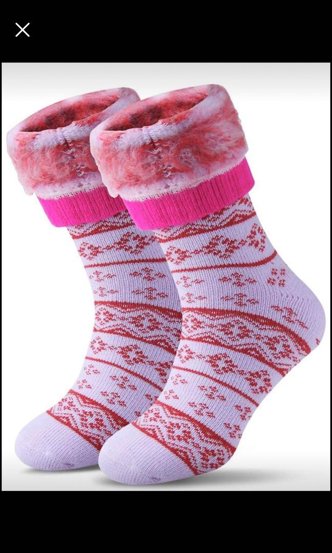 Brand new Women Winter Warm Wool Pile Lined Insulated Thermals Socks Thick Boots Heat Socks Cold