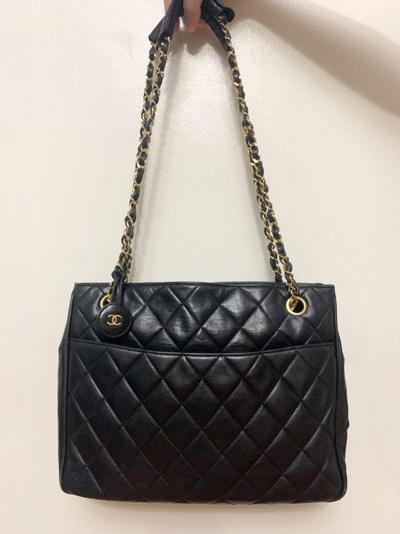 Chanel Women's Black Quilted Leather Vintage