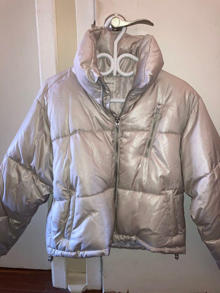 F21 Cropped Puffer Jacket